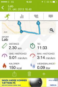 Den korte vej rundt - 2.30km (klik for at forstørre)