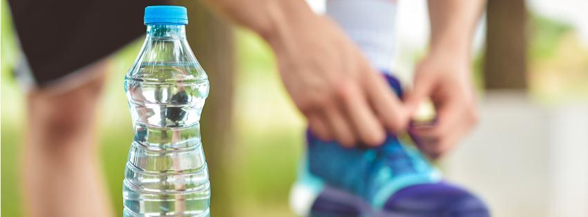Vand under halvmarathon
